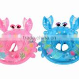 Inflatable crab shape Seat Ring, inflatable baby swimming pool floating boat