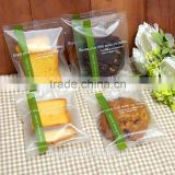 food grade printed back seal OPP/CPP plastic packing bag for bread,muffin,chocolate,cookies
