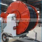 Hose reel farm irrigation sprinkler equipment