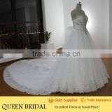 Real Sample Muslim Gown Sweetheart Crystal Beaded Corset Bodice Wedding Dress 2016