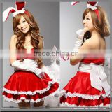 Cute Bunny Installed Red Christmas/Christmas Cutie Girl's Costume Dress