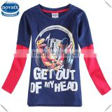 (A6029D) 2-6Y nova kids new winter long sleeve t shirts baby boy clothing wholesale children t shirts printed cotton baby tshirt
