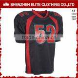 sublimation american football uniform jersey tackle twill