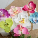 Wedding party artificial orchid flower head silk cloth flower head                                                                         Quality Choice