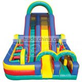 High Quality Commercial Outdoor Inflatable Slide and Obstacle Combo