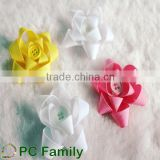 Pre made flower grosgrain ribbon hair bows