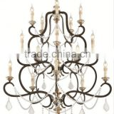 Low Price 3 tier acrylic crystals chandelier bohemia ring