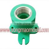 Plastic Female Base Adaptor With Metal Thread Pipe Fitting Injection Mould/Collapsible Core