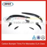 CLA Class Carbon Fiber Front Bumper Molding Trims for Mercedes CLA250 W117 C117