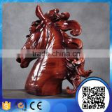 wholesale custom made resin new year gift horse souvenir horse head sculpture