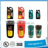 Wholesales waterproof durable lubricant machine engine oil bottle labels