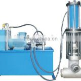 Hydraulic type jacketed melt flow control valve