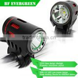 2016 Super bright 1200 lumen aluminum alloy led bike lights with rechargeable battery led bicycle light