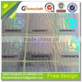 printabel product labels transparent hologram for packing sticker label with waterproof feature