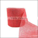 Wedding decorative 10yards acrylic diamond mesh wraps roll ,sparkle rhinestone ribbon