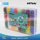 mid S-5MM 5200 pcs perler beads/box, 24colors rectangle dichroic fused glass bead