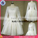 2014 custom made good quality l Knee-length A-line wedding dress lace bridesmaid dress