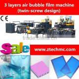 hot sale high speed air bubble film wrap machine 3 layers