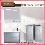 North America Style Modern Solid Wooden Vanity For Sale artificial basin bathroom cabinet