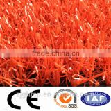 red artificial grass turf carpet / lawn synthetic for indoor playground