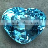 Wholesale charming rose/citrine/Blue tourmaline quartz crystal heart