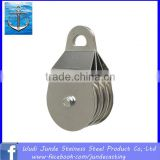 stainless steel chain pulley block/ double wheel wire rope pulley block