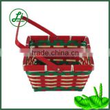 square bamboo gift basket