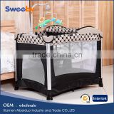 Metal Baby Playpen/Cot, Folding Baby Crib Bed