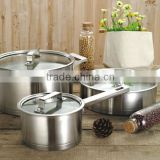 5 pieces impact bonding royal unbreakable non stick stainless steel cookware dinner set kitchen applicance