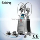 Most popular and newest real two handles cool teachnology cryo freezed weight loss machine