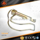 shaft lock pin /tub E clip/ lin ch pin/ lynch pin yellow zin c plated/ zinc p lated hook