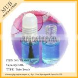 High quality 5ml empty clear glass vial for perfume,glass nail polish bottle with cap and brush