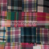 Cotton Material Madras Plaid Patchwork handmade pure fabric
