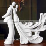 Wedding gift imitation ceramic unpainted resin figurines