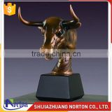 Norton factory bronze animal bull head statues NTBA-003LI