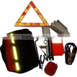 16 kinds of tools warning triangle adhesive bandage raincoats jumper cable car emergency tools