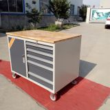 tool cabinet with wood top/ workbench