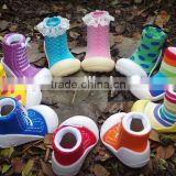 New trend of baby socks shoes baby toddler shoes slip model softy walking sock shoes