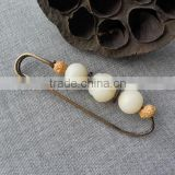 Ethnic style bodhi safety pins quality handmade beads brooch pins for women sweater