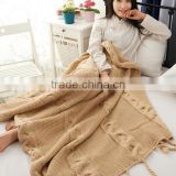 2017 trendy autumn winter cable knit throw blanket