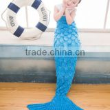 2017 latest new fish scale latest baby children kids mermaid tail blankets