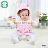 Winter thick cartoon baby hoodes vest waistcoat