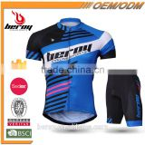 BEROY 2016 mens breathable bicycle uniforms suit with reflective elements,cycling clothes with anti-bacterial padded