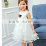 Lastest girls petal dress sleeveless tulle girls party dresses pretty frocks for children