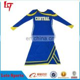 Maniac sublimated long sleeves cheerleading crop tops /hot sale sexy cheerleader uniform costumes
