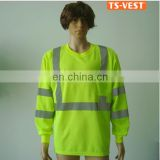 Hi Vis Custom 100%Polyester Reflective Cheap Men Safety T Shirt