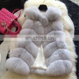 Lady medium size whole fox skin genuine fur vest for women fashion