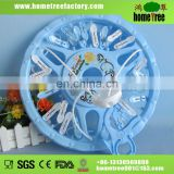 round plastic clothes hanger with 24 pegs