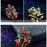 Christmas boutique jewelry European and American hot selling handmade rhinestone Christmas bells tress brooches