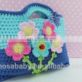 Crochet Lovely Girl Flower Bag ,Crochet Girl Handbag Children Gift Cute Colorful Flower Purse